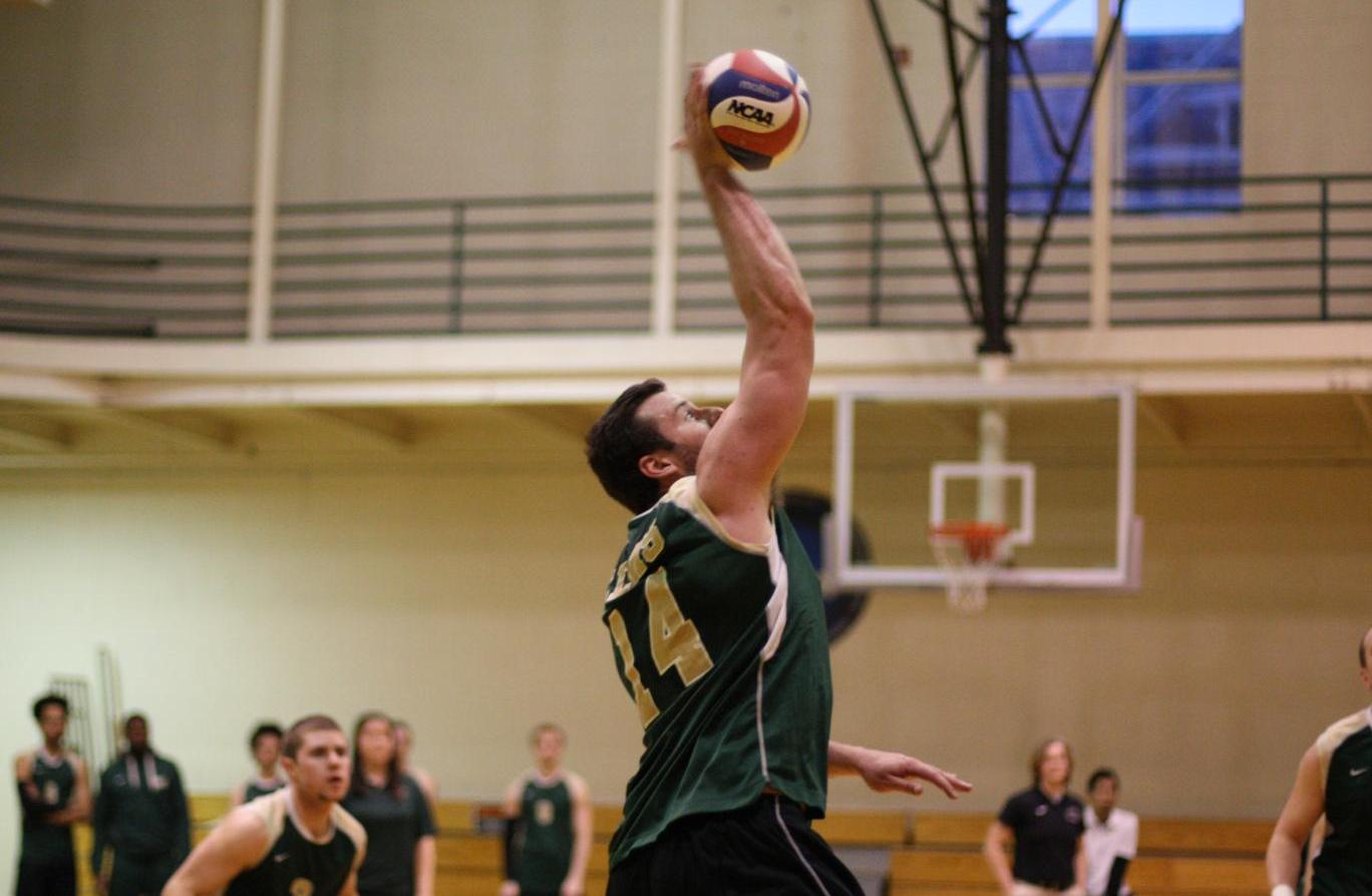 Men's Volleyball Cruises Past Cairn, Battles Nazareth In Five Sets at SUNY Invitational