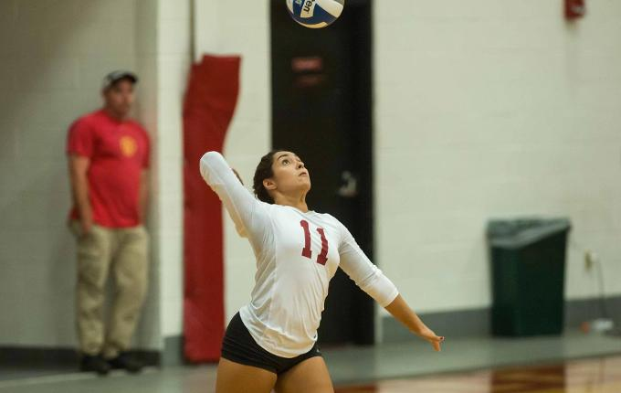 Volleyball Downs St. Joseph's, Albertus Magnus in Tri-Match