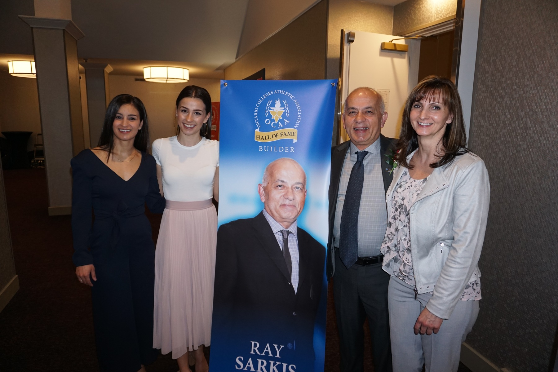 OCAA Hall of Fame inductee Ray Sarkis with his wife, Marilyn, and daughters, Ava and Hillary.