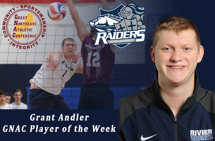 Men's Volleyball: Grant Andler named GNAC MVB Player of the Week