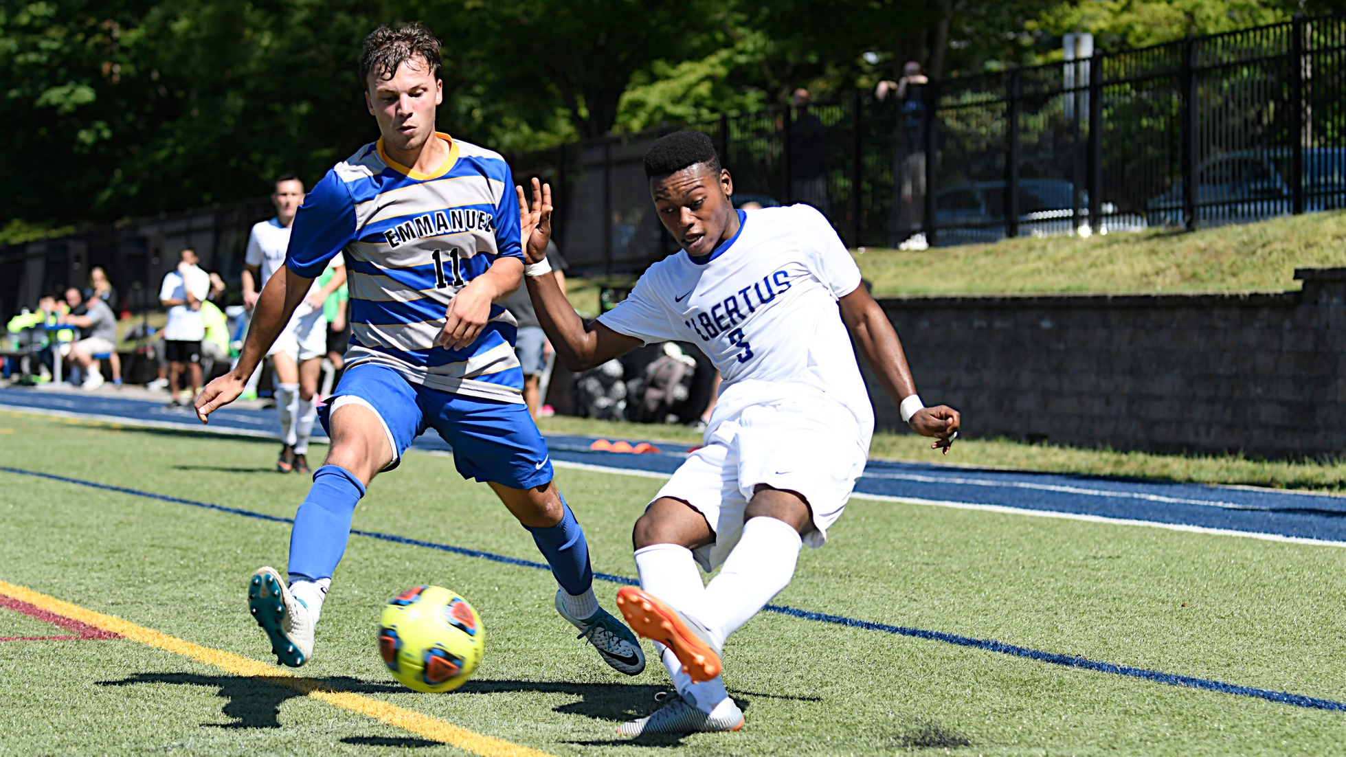 Aremu Lifts Men's Soccer Past Anna Maria, 2-1