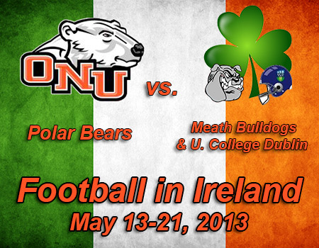 Football squad travelling to Dublin, Ireland, for May 15 exhibition game