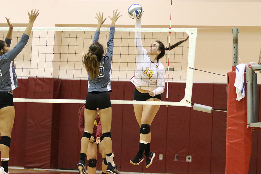 Lancer Camille Ferguson has been a key performer of late and helped PCC sweep Mt. SAC on Friday night.