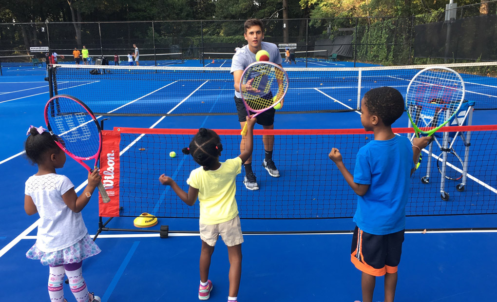 Emory Men's Tennis Takes Part In Volley Against Violence Program