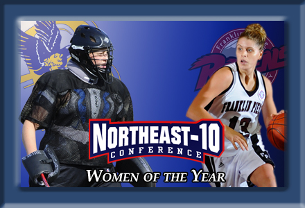 Bentley's Sliney and Franklin Pierce's Leedham  Named NE-10 Women of the Year