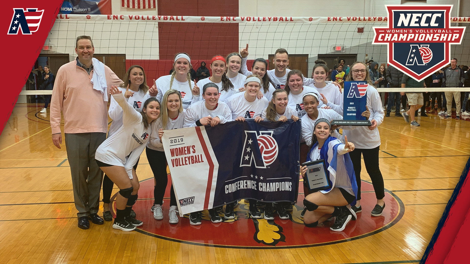 Eastern Nazarene Downs New England College, 3-1, to Claim 2019 NECC Women's Volleyball Championship