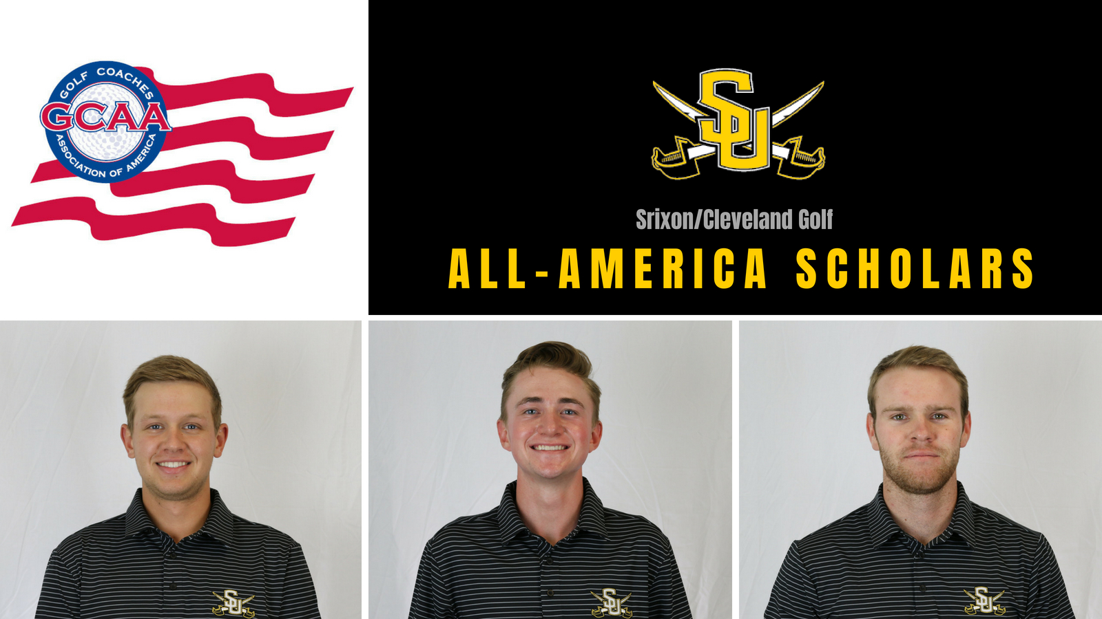 Three Men on Pirate's Golf Team Named All-America Scholars