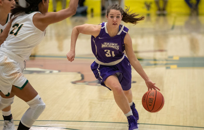 Ferreri Records Triple-Double, Women's Basketball Defeats Vermont Tech