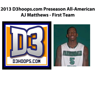 Matthews Named D3hoops.com Preseason All-American