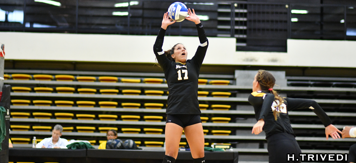 Negron Records Double-Double, but Volleyball Falls at Maryland