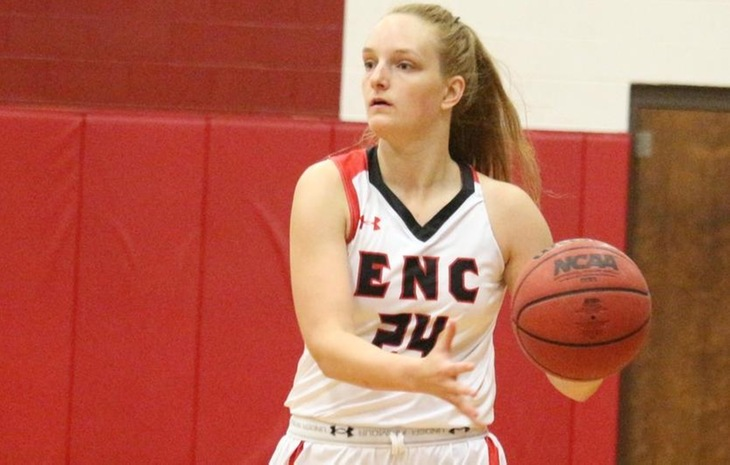 Women's Hoops Scores Narrow 56-53 Victory at Elms