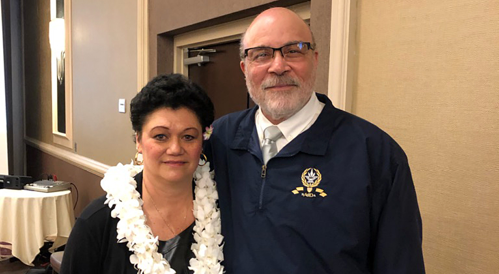 Taft College athletic director Kanoe Bandy was recognized by CCCAA Executive Director & CEO/President Carlyle Carter at the annual CCCAA Convention on Thursday.