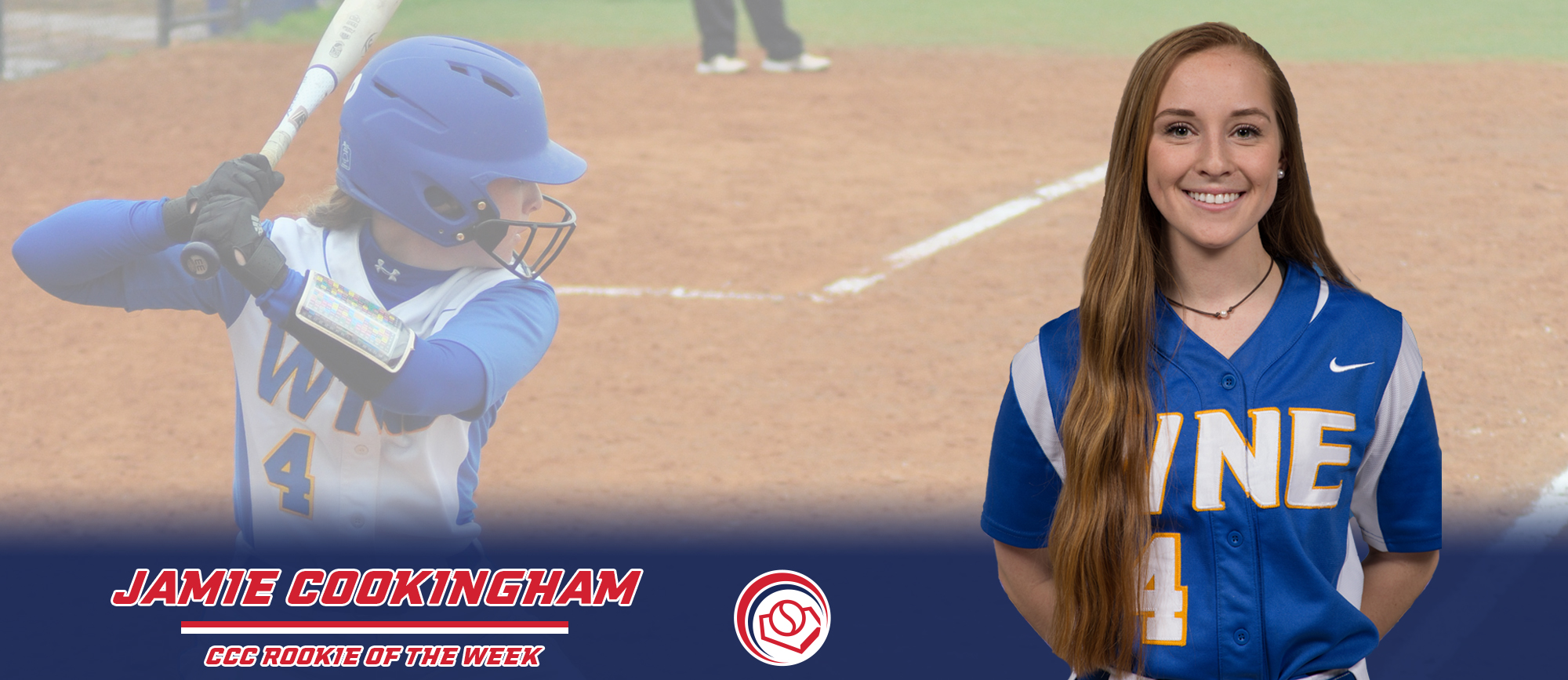 Jamie Cookingham Named CCC Rookie of the Week