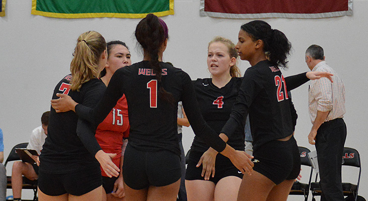 Two Convincing Wins For Wells Women's Volleyball