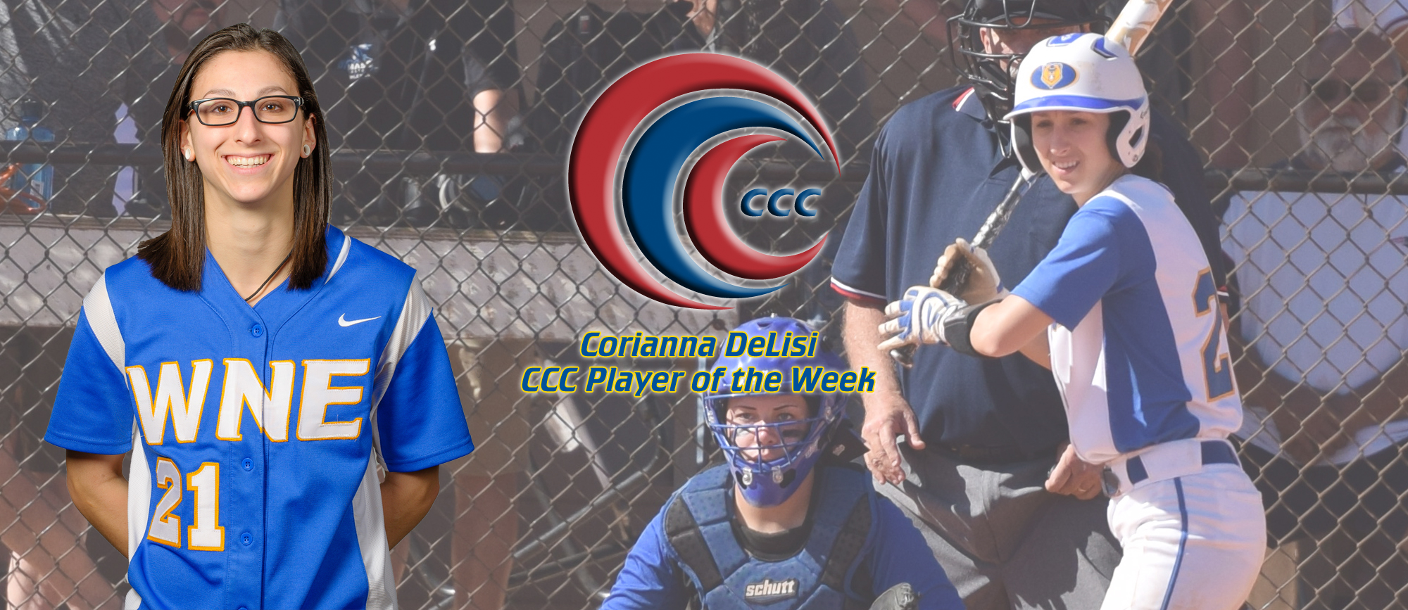 Corianna DeLisi Earns CCC Player of the Week Honors
