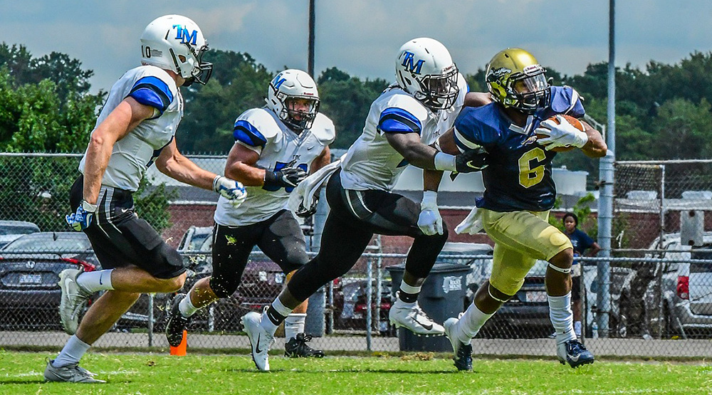 Thomas More playing at North Carolina Wesleyan in September. (Photo for N.C. Wesleyan athletics by Carl Lewis)