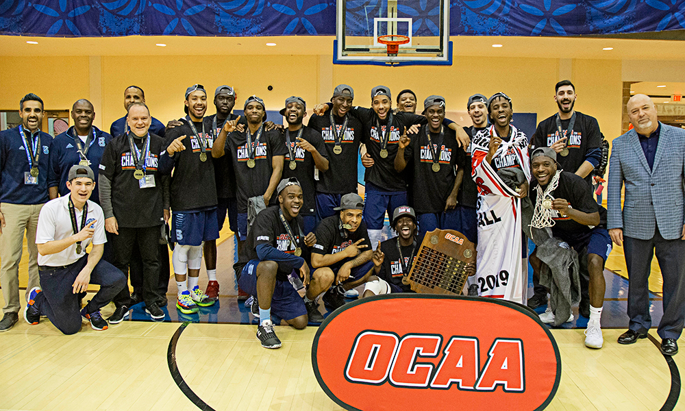 Men's basketball downs Humber to claim OCAA title