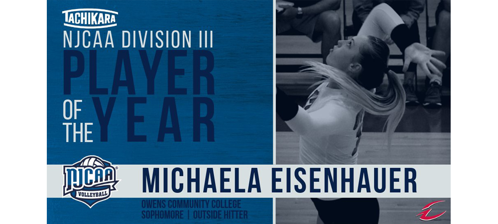 Eisenhauer Named Tachikara NJCAA Division III Player of the Year, Lewis Named Coach of the Year
