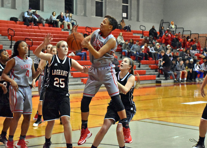Freshman Keturah Billen pulled down a season-high nine rebounds and scored five points in Wednesday's 58-55 win over LaGrange.
