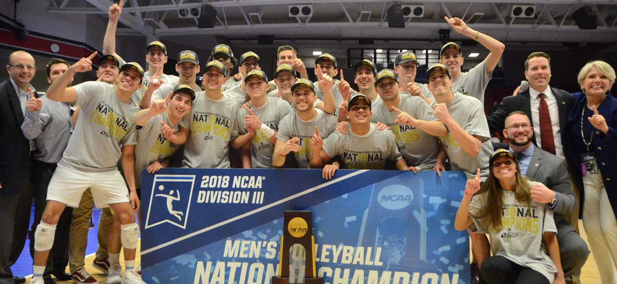 BACK TO BACK - Men's Volleyball Wins 2018 NCAA Division III National Championship