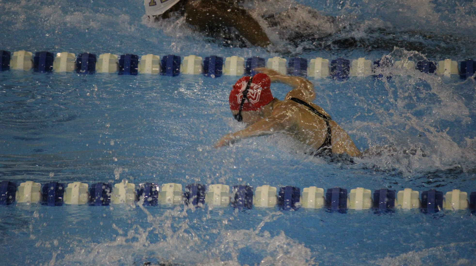 Swim & Dive teams split on the road at Valparaiso