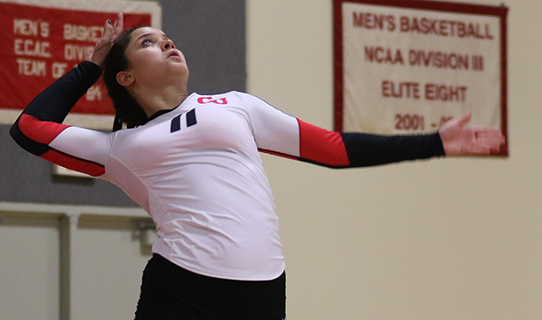 Women's Volleyball Defeats Westfield State 3-2