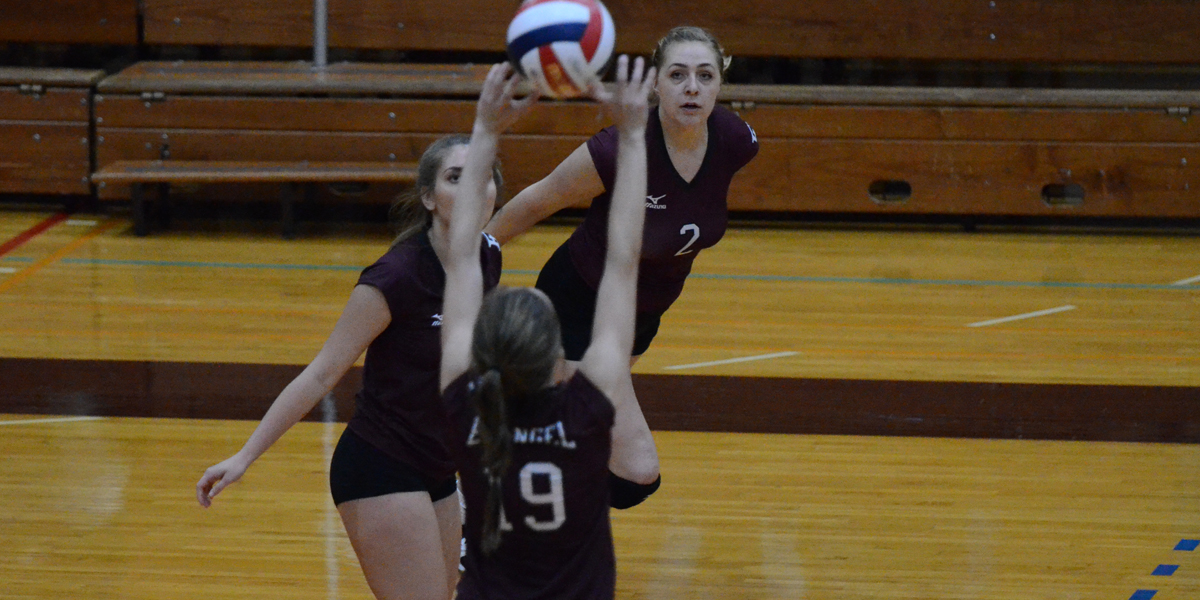 Evangel Volleyball Falls in Four-Sets to Clarke