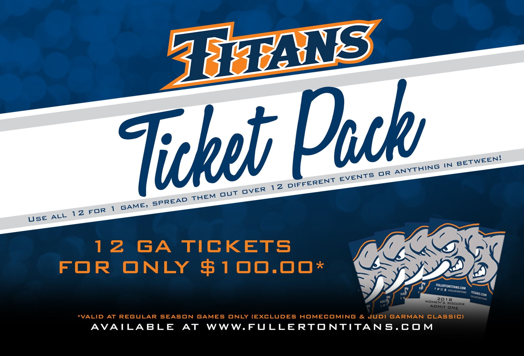 Titan Ticket Packs On Sale Now