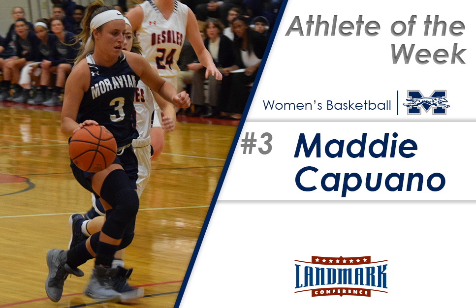 Maddie Capuano '20 has been named the Landmark Conference Women's Basketball Athlete of the Week.