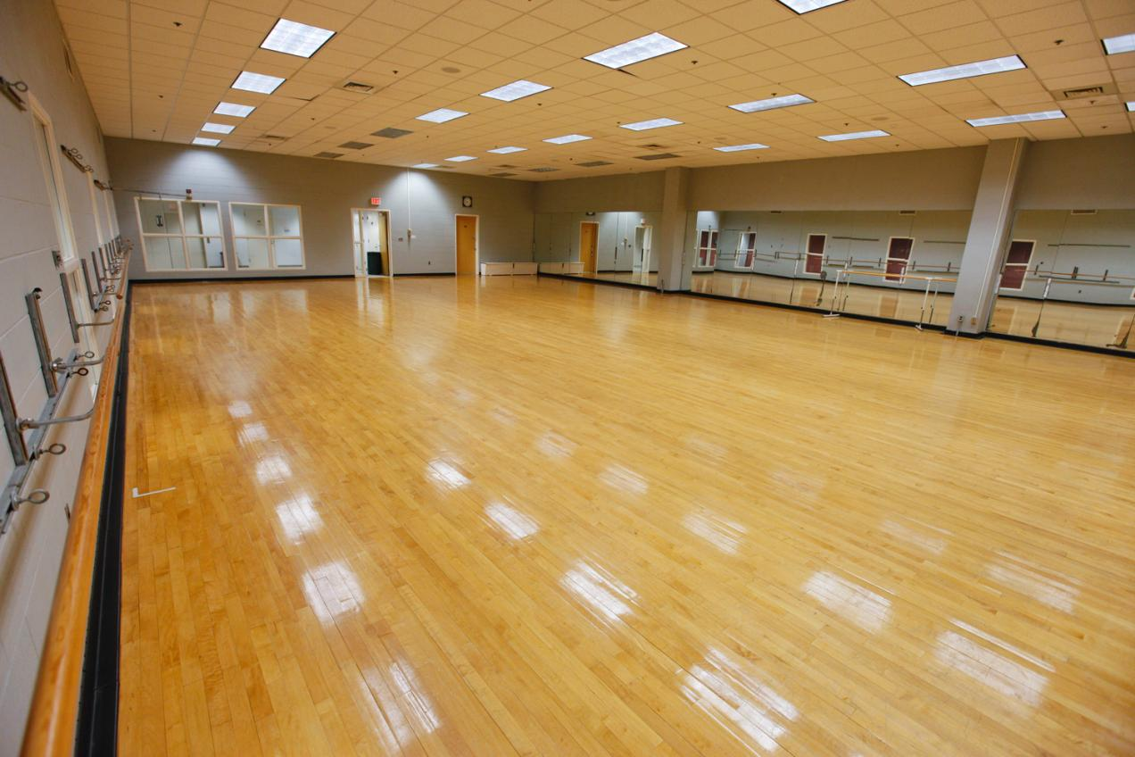 3rd floor dance studio home of numerous pe classes and fitness