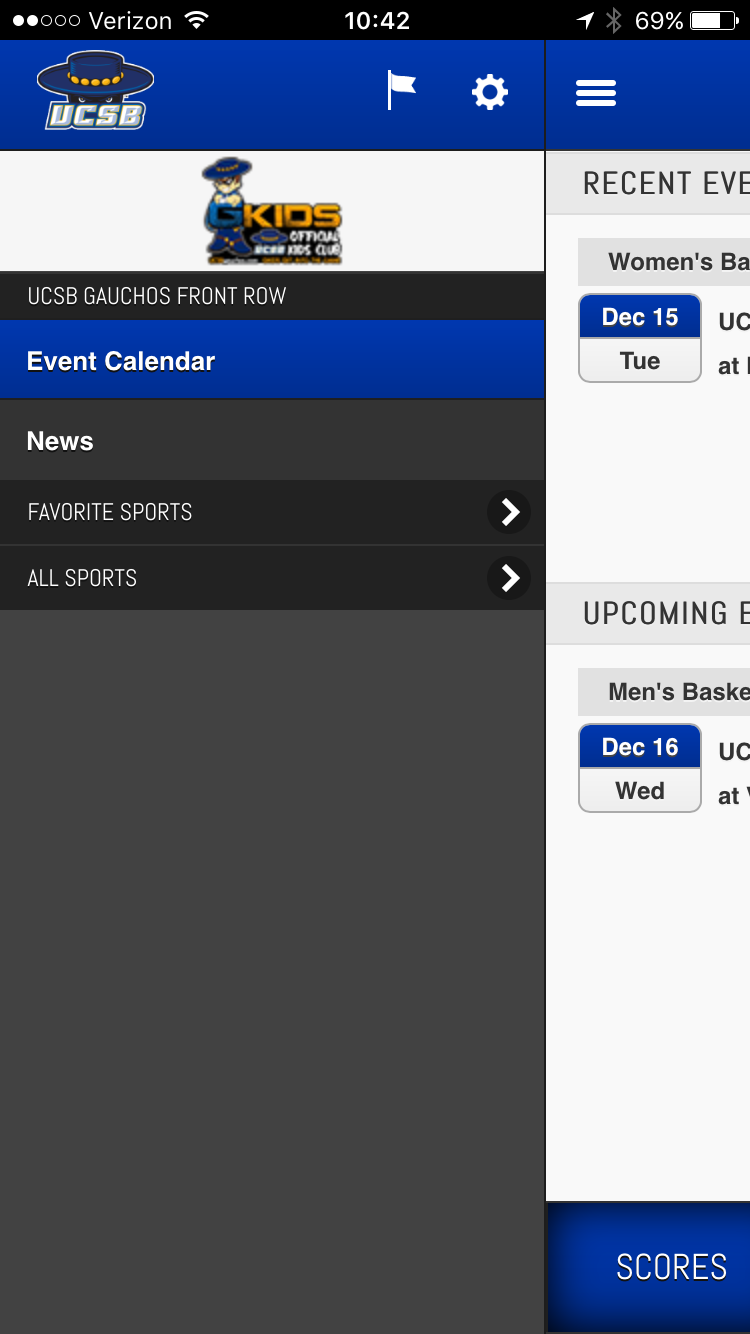 Ucsb Calendar.Get Your Seats In The Front Row Download The Ucsb Gauchos Front Row