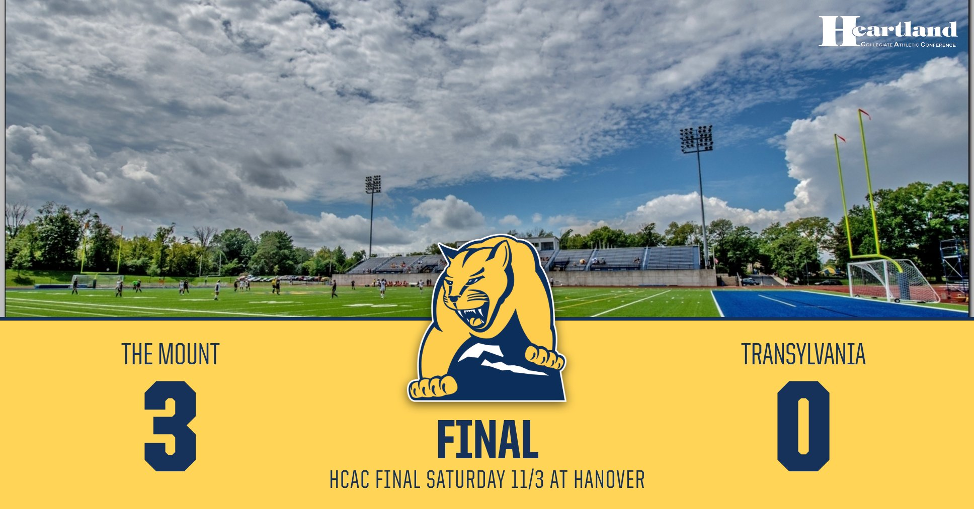 The Mount defeats Transy in semi-final, rematch with No. 14 Hanover will decide HCAC Championship