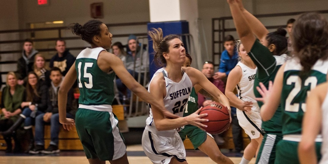 Hackett's Double-Double Leads Women's Basketball to 65-56 Win at Mt. Ida