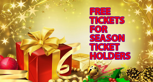 Happy Holidays: Special gift for season ticket holders