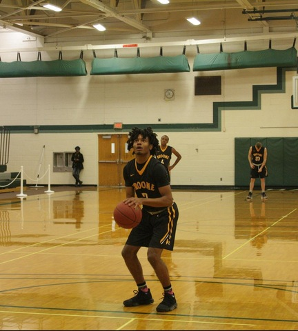 SUNY Broome's Reginald Vaughn at the FT Line