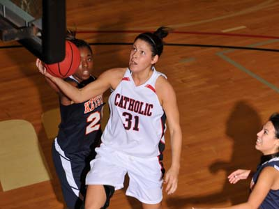 Confrey's last-second basket lifts CUA to exciting road win
