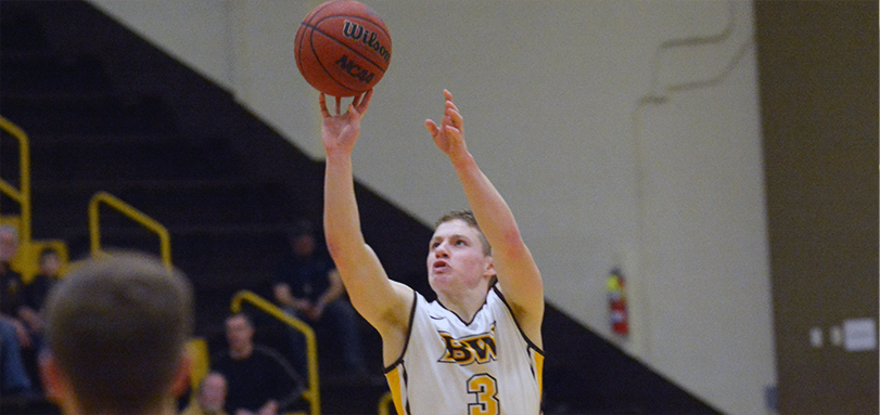 Junior Academic All-Ohio Athletic Conference guard Michael Quiring led BW with 18 points in the loss to Marietta