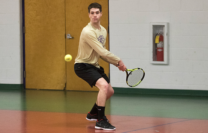 Men's Tennis Loses 4-3 Decision to Emerson, Third One-Point Setback of Season
