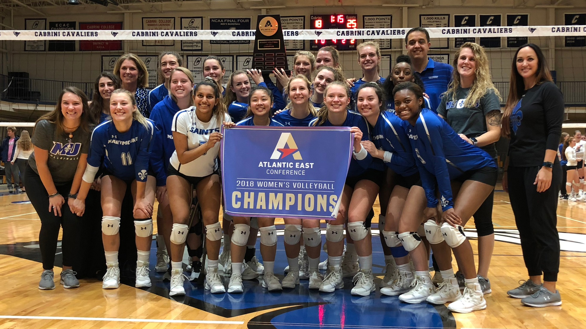 CONFERENCE CHAMPS: Saints down Cavaliers for first-ever conference title