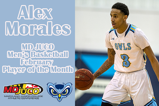 Morales Named Maryland JUCO Men's Basketball February Player Of The Month