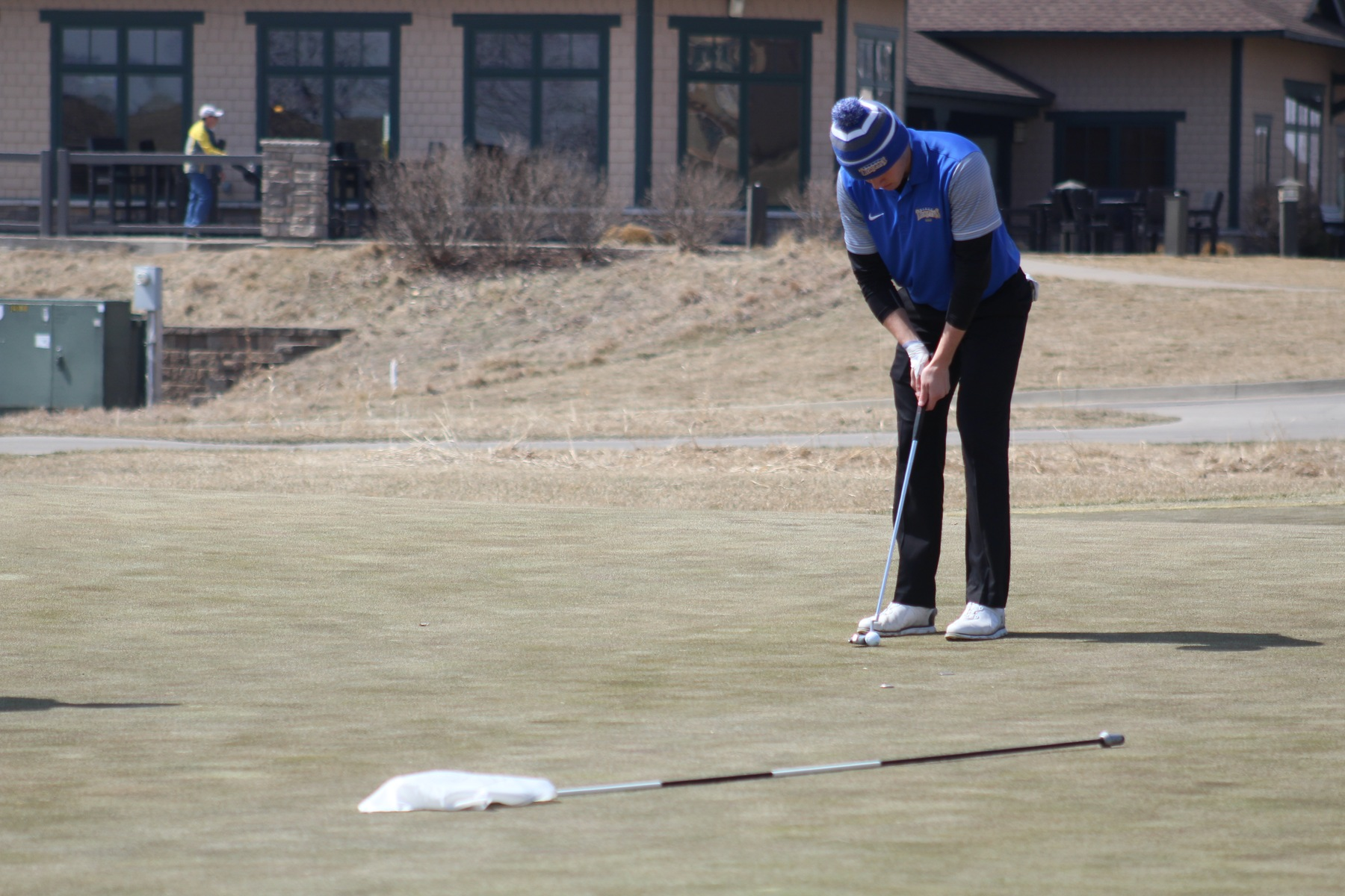 NIACC's Josh Schaefer puts Thursday at the DMACC Invitational at the Otter Creek Golf Course.