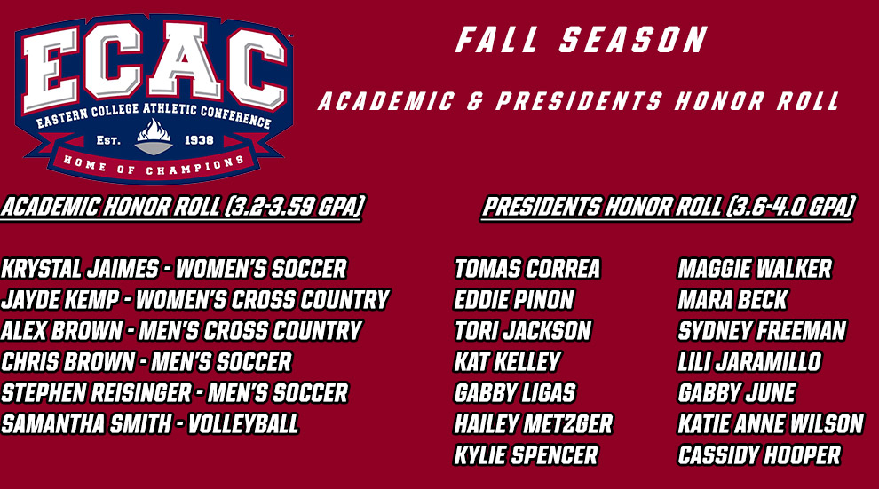 20 Falcons Selected to ECAC Fall Academic Honor Roll