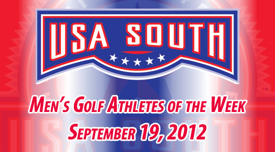 USA South Men's Golf Athletes of the Week - September 19, 2012