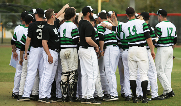 Copyright 2017; Wilmington University. All rights reserved. File photo of the team prior to their game against AIC at Barry.