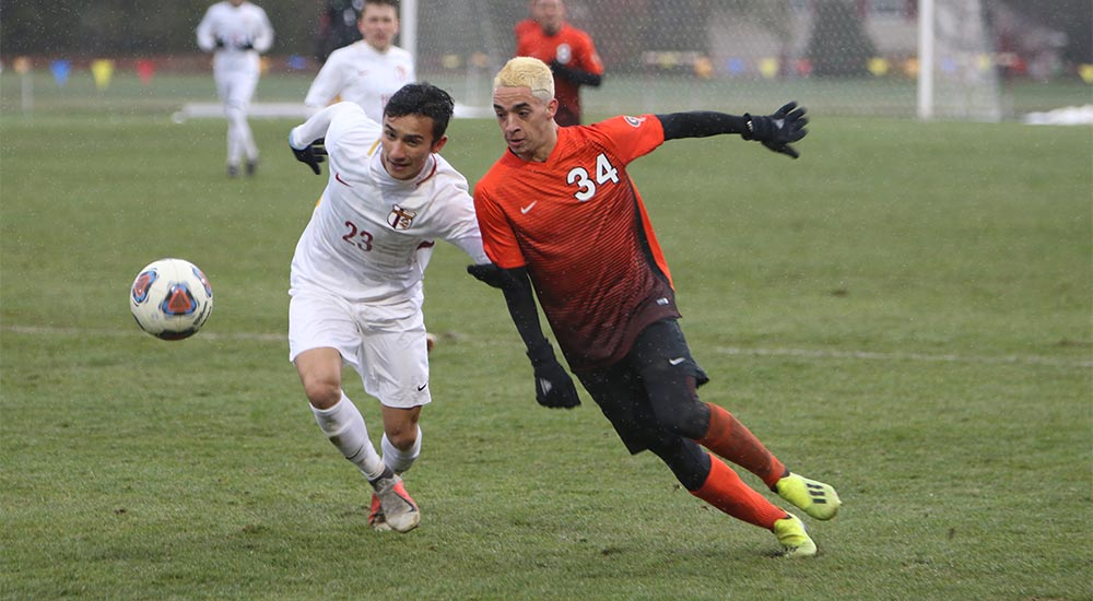 Men's soccer season concludes with 4-0 loss to Calvin in NCAA first round match