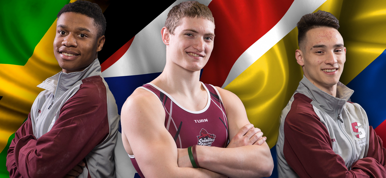 Three Springfield College Men's Gymnasts Compete On International Soil
