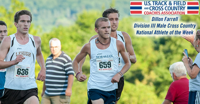 Farrell Selected as USTFCCCA Division III National Athlete of the Week