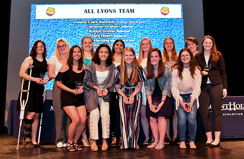 Honorees from the 2018-19 All-Lyons Team, awarded on April 28, 2019.