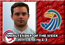 Blake Wojtala-Salve Regina, Men's Ice Hockey: Goaltender of the Week