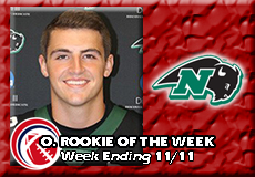 Hunter Ferreira-Nichols, CCC Football: Offensive Rookie of the Week